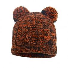 Детская водонепроницаемая шапка DexShell DH572 с помпонами оранжевая