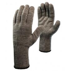 Перчатки «Ворса» акриловые двойные с внут. начесом, удлиненный манжет,  двойной оверлок