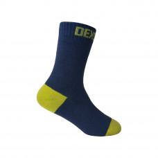 Водонепроницаемые носки детские DexShell Ultra Thin Children Socks, черный/желтый