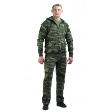 "Костюм трикотажный ""ТИР"" футер кмф (куртка + брюки 100%х/б)"