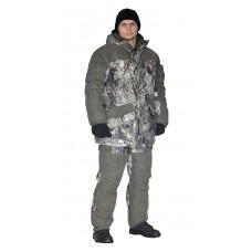 "Костюм зимний «ГЕРКОН» куртка/брюки, цвет: кмф ""серая глина""/т.хаки,  ткань: Алова/Финляндия"