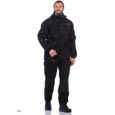 """Костюм мужской """"ГОРКА-М"""" куртка/брюки, цвет: кмф """"Черный"""", ткань Рип-стоп"""