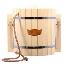 Русский душ 20л, обливное устройство c пластиковой вставкой и наливным клапаном в коробке, липа