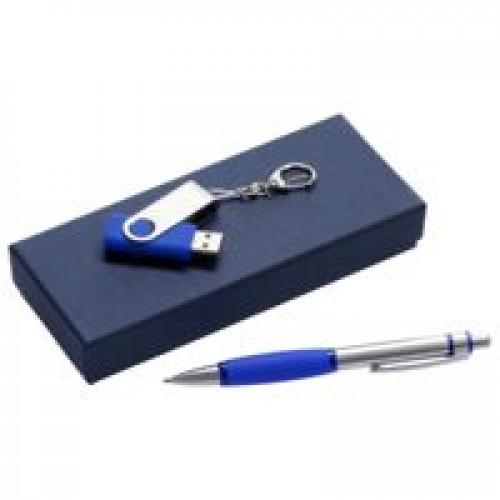 Набор Notes: ручка и флешка 16 Гб, синий