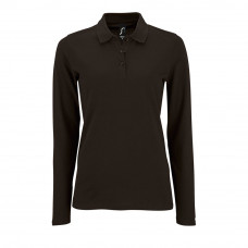 Рубашка поло женская с длинным рукавом PERFECT LSL WOMEN, черная