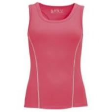 Спортивный топ Rio неоновый розовый (коралл)