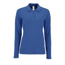 Рубашка поло женская с длинным рукавом PERFECT LSL WOMEN, ярко-синяя