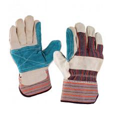 """Перчатки комбинированные ткань - спилок, усиленные, """"Докер"""""""