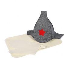 Набор из 3-х предметов (шапка Будёновка, рукавица, коврик)