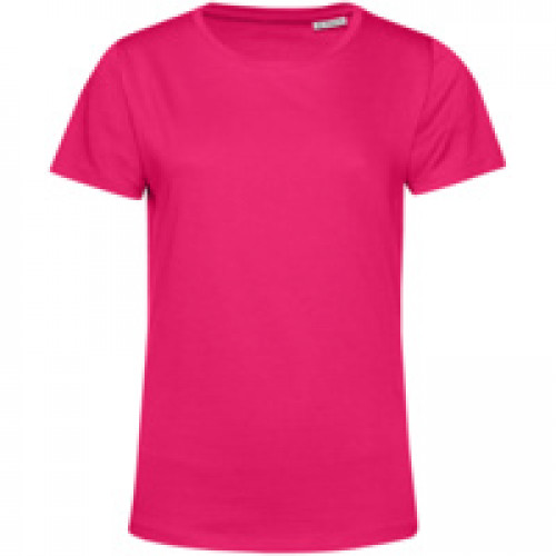 Футболка женская E150 Organic, ярко-розовая (фуксия)