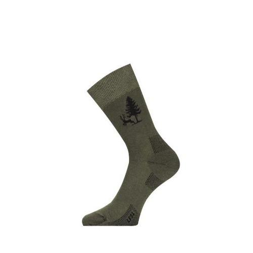 Носки Lasting  LFSL 620, cotton+polyamide, зеленый с рисунком