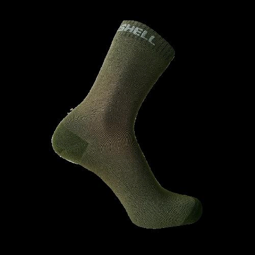 Водонепроницаемые носки DexShell Ultra Thin Crew, оливковый зеленый