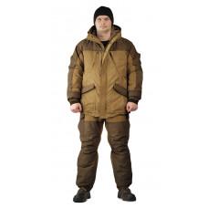 Костюм зимний «ГРАСК» куртка/полукомб. цвет: св.коричневый/т.коричневый, ткань: тк.Канада