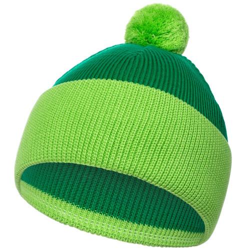 Шапка Snappy, зеленая с салатовым