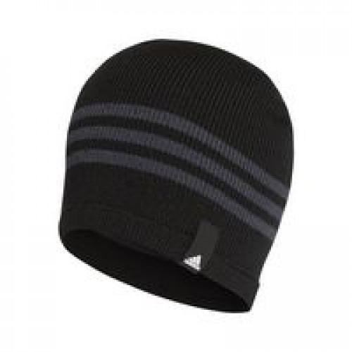 Шапка Tiro, черная с серым