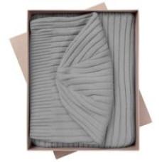 Набор Stripes: шарф и шапка, серый