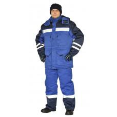 "Костюм зимний ""ЗИМНИК"" куртка/брюки, цвет: василек/т.синий"