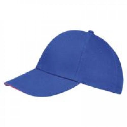 Бейсболка BUFFALO, ярко-синяя (royal) с неоново-розовым