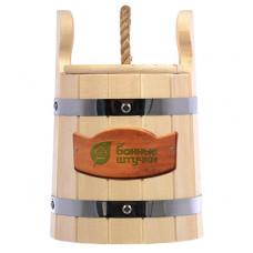 Кадка для воды и заготовки солений 3л. с крышкой и гнётом, липа