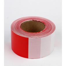 Лента оградительная красно-белая, 75 мм, 250 м