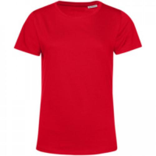 Футболка женская E150 Organic, красная