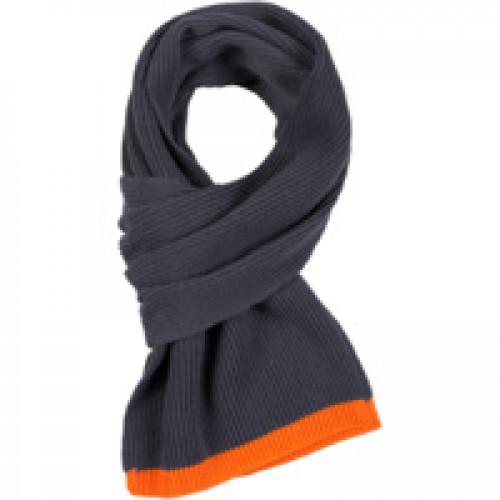 Шарф Amuse, темно-серый с оранжевым