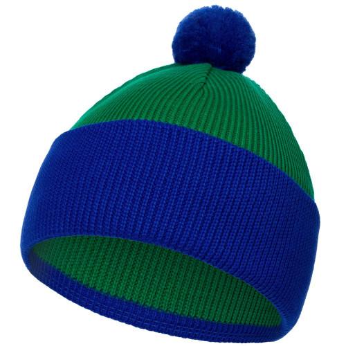 Шапка Snappy, зеленая с синим