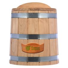 Кадка для воды и заготовки солений 15 л. с крышкой и гнётом, дуб