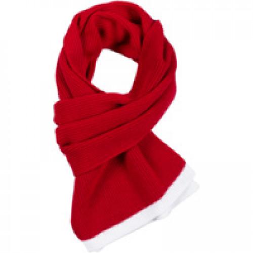 Шарф Amuse, красный с белым
