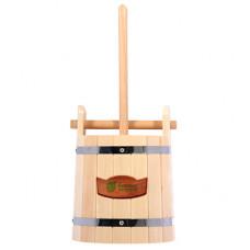 Кадка для воды и заготовки солений 10л. с замком и гнётом, липа