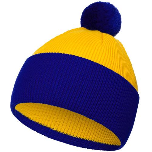 Шапка Snappy, желтая с синим