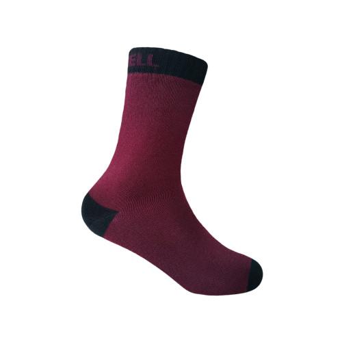 Водонепроницаемые носки детские DexShell Ultra Thin Children Socks, бордовые