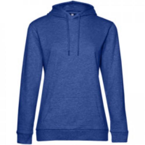 Толстовка с капюшоном женская Hoodie, ярко-синий меланж