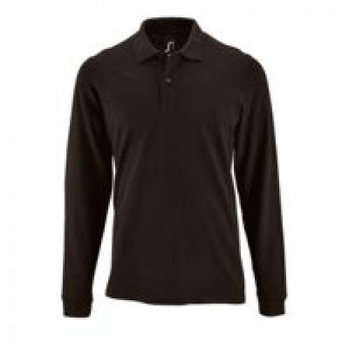 Рубашка поло мужская с длинным рукавом Perfect LSL Men, черная