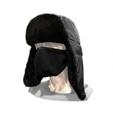 Шапка-ушанка с маской НОРКА черный