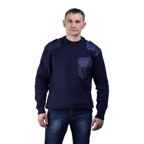 Джемпер форменный т-синий с накладками
