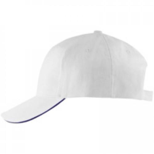 Бейсболка BUFFALO, белая с темно-синим