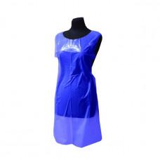 Фартук одноразовый полиэтиленовый 74*120см. 20мкм. 11,3гр. синий