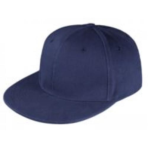 Бейсболка Unit Snapback с прямым козырьком, темно-синяя