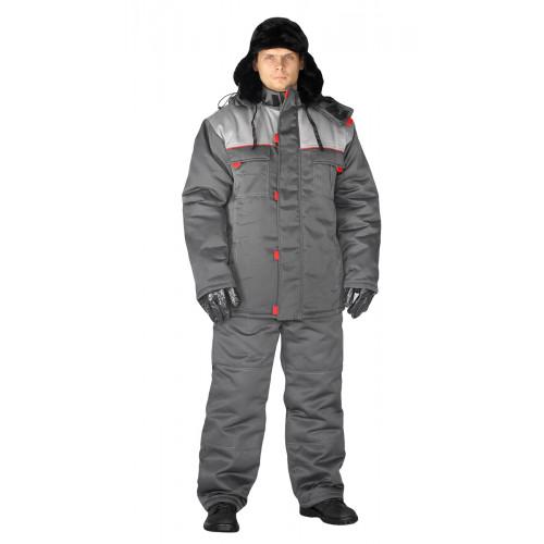 "Костюм зимний ""ФАВОРИТ"" куртка/брюки, цвет: т.серый/св.серый"
