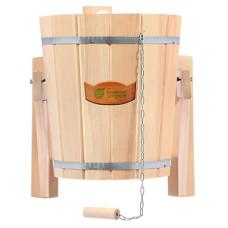 Русский душ 14 л, обливное устройство c пластиковой вставкой и наливным клапаном в коробке, кедр
