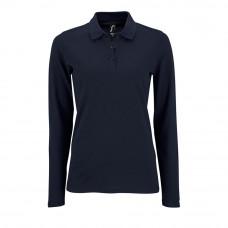 Рубашка поло женская с длинным рукавом PERFECT LSL WOMEN, темно-синяя