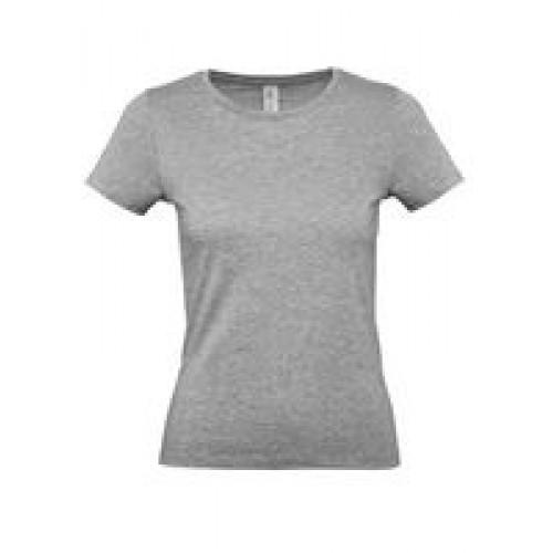 Футболка женская E150 серый меланж