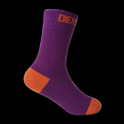 Водонепроницаемые носки детские DexShell Ultra Thin Children Socks, пурпурный