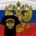 """ФУТБОЛКА """"РОССИЯ"""" (ЧЕРНАЯ)"""