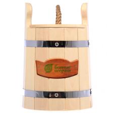 Кадка для воды и заготовки солений 5л. с крышкой и гнётом, липа