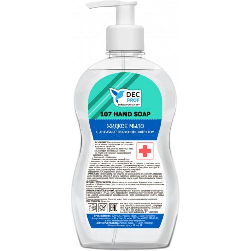 Жидкое мыло с антибактериальным эффектом 0,5л. DEC PROF 107 HAND SOAP