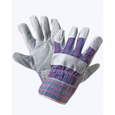 Перчатки комбинированные ткань - спилок, тип Ангара
